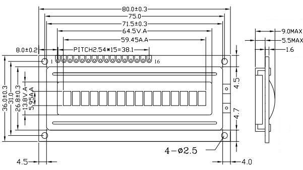 yxd-1601a - lcm tft lcd 液晶模块 液晶屏 深圳市